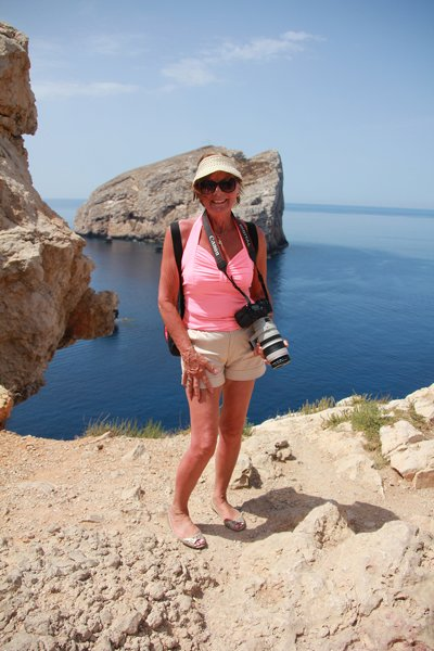 m_Mum at Capo Caccia with Isla Forada behind
