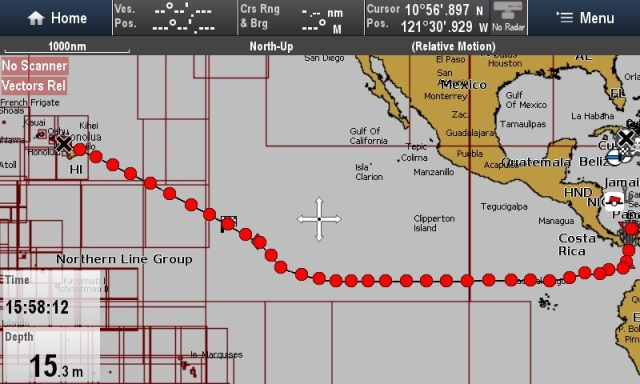 Joys Track Panama to Hawaii
