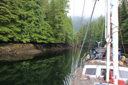 Passing through Watts Narrows, British Columbia