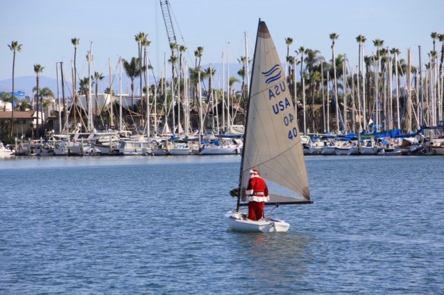 Father Christmas Sailing-squashed