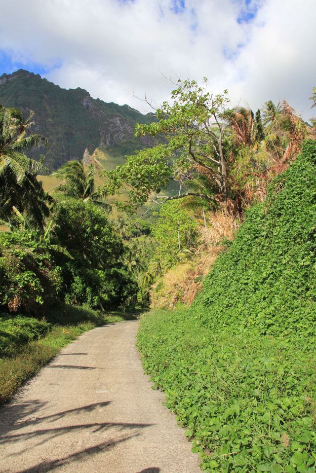 Fatu Hiva Views narrow road-squashed